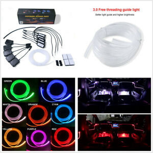 12V 64Colors DIY NO Threading Ambient Lamp Car Atmosphere Light Lamp APP Control