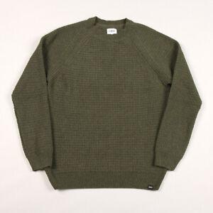 Edwin Purl Sweater Ecojean Recycled Yarns - Uniform Green