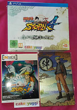 NARUTO SHIPPUDEN ULTIMATE NINJA STORM 4 COLLECTOR SONY PS4 + METAL PLATE ARTBOOK