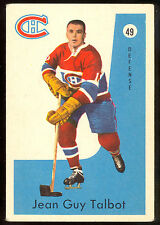 1959 60 PARKHURST HOCKEY #49 JEAN GUY TALBOT VG-EX MONTREAL CANADIENS CARD