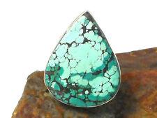 Tibetan TURQUOISE   Sterling  Silver  925  Gemstone  RING  -  Size: M