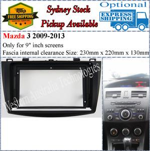 For 9 Nine Inch Screen Fascia facia Fits Mazda 3 2009-2013