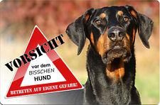 DOBERMANN - A4 Metall Warnschild SCHILD Hundeschild Alu Türschild - DBM 10 T3
