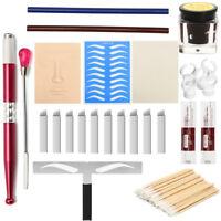 Semi-Permanent Makeup Kit Microblading Eyebrow Lip Tattoo Blade Ink Practice Kit