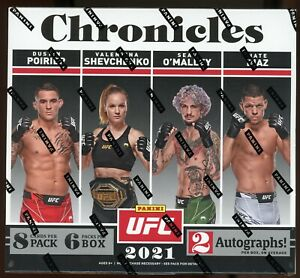 2021 PANINI CHRONICLES UFC Factory Sealed HOBBY Box