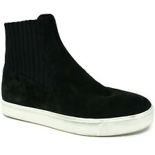 Vince Womens Coleman High Top Sneakers Size 6.5 M Black Suede Sock Stretch