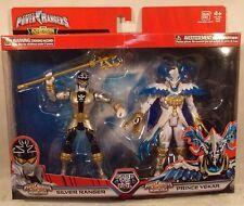 Power Rangers Mega Collection Super Mega Force Silver Ranger & Prince Vekar MISP