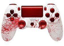 """""""Bloody Splatter"""" Ps4 Custom UN-MODDED Controller Aluminum Thumbsticks"""
