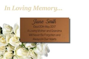 Engraved Personalised Memorial Bench Plaque - Weather Endurable