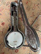 Ozark 6 String Banjo Guitar. With original hard case. Mint