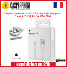 Original Chargeur Cable USB Apple Lightning pour IPhone 6 7 8 X 11 Pro IPad Neuf