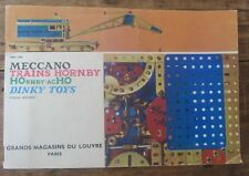 ANCIEN CATALOGUE GRANDS MAGASINS DU LOUVRE MECCANO HORNBY DINKY TOYS 1960 / 1961