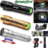 50000lm 3-Modes Flashlight T6 LED 18650 Zoomable Torch Mount Bicycle Light