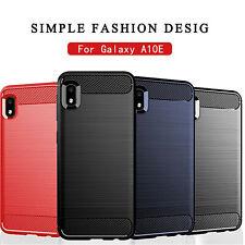 For Samsung Galaxy A10E Case Carbon Fiber w/Soft Screen Protector Rugged Cover