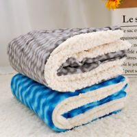 Dog Bed Mats Washable Soft Fleece Crate Pad Winter Warm Cushion Kennel Mattress