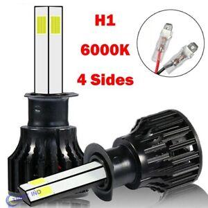 2PCS 4 Side H1 LED Combo Headlight Kit 200W 30000LM 6000K Bulbs White Hi/Lo Beam