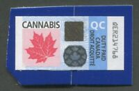 CANADA REVENUE QUEBEC CANNABIS DUTY PAID STAMP - USED