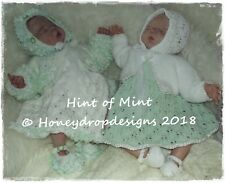 HONEYDROPDESIGNS * MINT * PAPER KNITTING PATTERN * 0-6 MONTHS (2 Sizes)