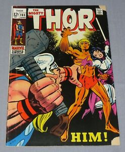 THOR #165 (Him, Warlock 1st Full Appearance) VG+ shape Marvel Comics 1969