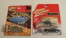 2 JOHNNY LIGHTNING Classic Gold & Scrapin 1970 Chevy Monte Carlo 1/64 NISP