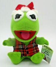 """Vintage 1988 McDonald's Baby Kermit Plushie with Christmas Hat - 7"""""""