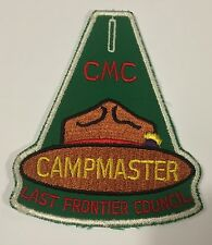Camp Kickapoo Oklahoma LAst Frontier Council Campmaster patch Mint MH1