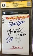 Justice League #1_CGC 9.8 SS_Signed Affleck Cavill Gadot Miller Momoa & Fisher