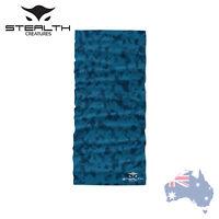 Stealth Creatures Face Sock™ - Stealth Camo Blue - Bandana Mask Neck Scarf UV