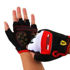 Ferrari Skate Gloves Half Finger for Bicycle Motorcycle Cycling Gym Sport Size M