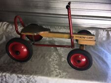 Vintage Radio Flyer Row Cart - Made of Wood & Metal Four Wheel Rowing