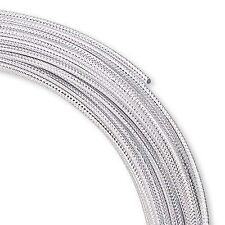 45 FEET CROSS HATCH TEXTURE ROUND ALUMINUM CRAFT JEWELRY WRAPPING WIRE 12 GAUGE