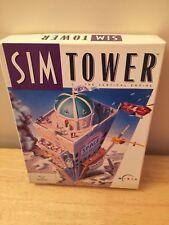 Juego PC CD ROM Caja Grande solo la SIM Torre Maxis 1994 Imperio vertical