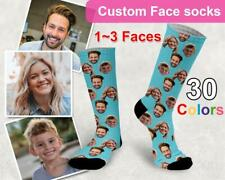 Custom Person Socks Personalised Lovers Photo Face Sock DIY Birthday XMAS Gift