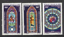 Congo 1970 Christmas. Stained-glass Windows - MNH set of 3 - Cat £7 - (375)