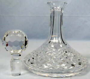 """Waterford Crystal Alana Ships Liquor Decanter Glass Bottle 10"""" w/Stopper"""