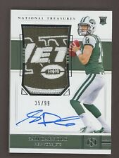 2018 National Treasures Sam Darnold RPA RC Rookie Jets Logo Patch AUTO 35/99