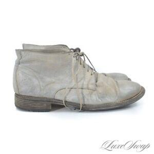 #1 MENSWEAR Guidi Italy 994 Kangaroo Full Grain Leather Distressed Grey Boots 47
