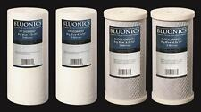 "BLUONICS Big Blue Carbon Block & Sediment Water Filter 4pcs 4.5"" x 10"" Cartridge"