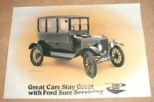 1924  FORD MODEL T TUDOR DEALER POSTER  BROCHURE ORIGINAL
