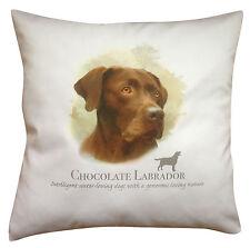 Labrador Chocolate Dog | 100% Cotton Cushion Cover Zip | Howard Robinson | Gift