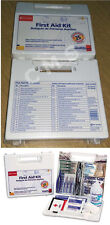 New FIRST AID ONLY OSHA 25-Person Kit 107 Pieces Wall Mounted Plastic Case USA