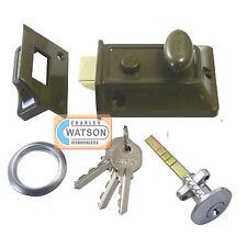 ERA 133-81 60mm Traditional Door Lock Brass Cylinder Nightlatch Night Latch