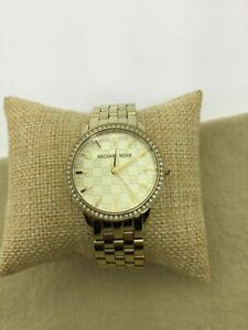Michael Kors Stainless Steel Crystal Bazel Watch