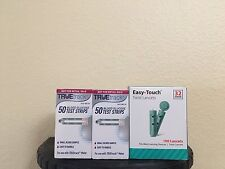 TRUEtrack Blood Glucose Test Strips, 100 Ct & Easy Touch Lancets 32G 100 CT