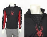 SPYDER Mens T-Neck Ski Top Zip Neck Activewear Long Sleeve Black Size S
