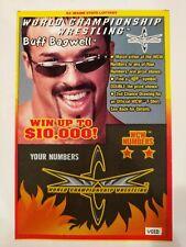 NEW WCW Buff Bagwell Maine Lottery $2 Ticket Scratch Off WWE WWF TNA NWA nWo ECW