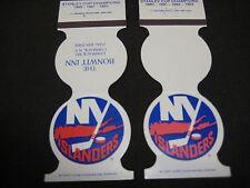 RARE 1982/83 1983/84 NEW YORK ISLANDERS HOME SCHEDULE MATCHBOOK COVERS