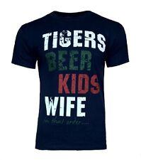 Para Hombre Pequeña Leicester Tigres Algodón Camiseta Adulto Top Rugby Unión Nuevo Azul Marino Soy Wo