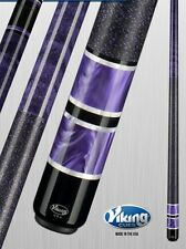 Viking 2pc Pool Cue Billiards custom new a317 Purple Pearl Finish cue free Glove