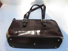 Jack Georges Leather Madison Avenue Business Tote 3902 Cherry